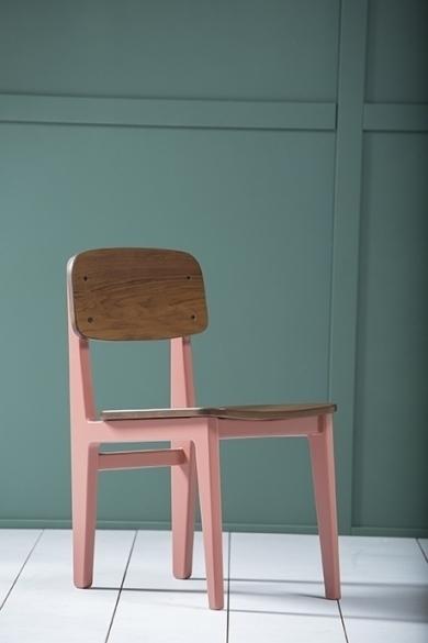 amol w light red chair