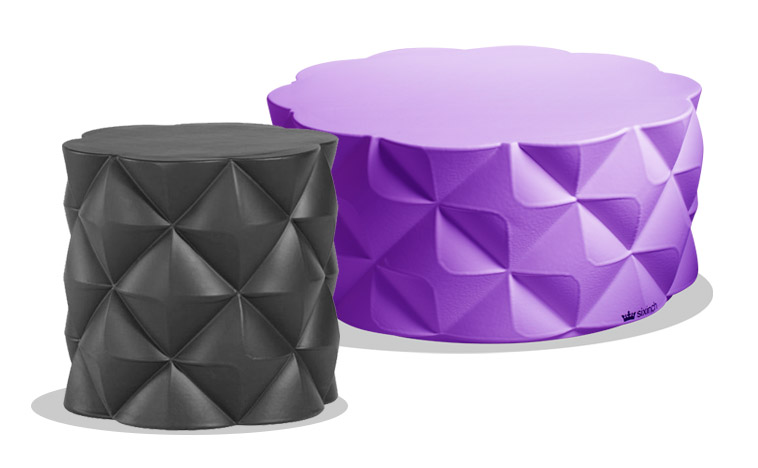 sixinch diamond pouf 2