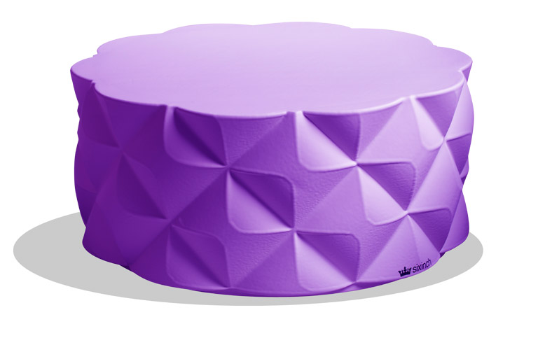 sixinch diamond pouf 3